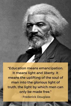 Happy birthday to Frederick Douglass! Let's honor his legacy and work to ensure all have access to education.