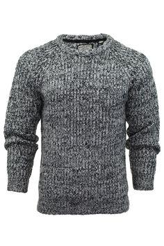 d1fe4ce7e5f Mens Jumper Brave Soul  Dawkins  Knit Crew Neck Sweater  Amazon.co.uk   Clothing