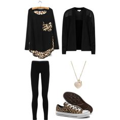 """""""Leopard Day"""" by clauzzenlms on Polyvore My outfit today, for work."""