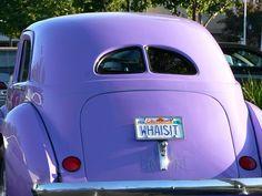 ❥ purple vintage car