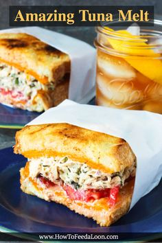 This Amazing Tuna Melt recipe is one for the record books. It takes this iconic … This Amazing Tuna Melt recipe is one for the record books. It takes this iconic sandwich over the top & is incredible in flavor & texture. Tuna Melt Sandwich, Tuna Melts, Soup And Sandwich, Sandwich Ideas, Tuna Sandwich Recipes, Cubano Sandwich, Chicken Sandwich, Tuna Fish Recipes, Sandwich Menu