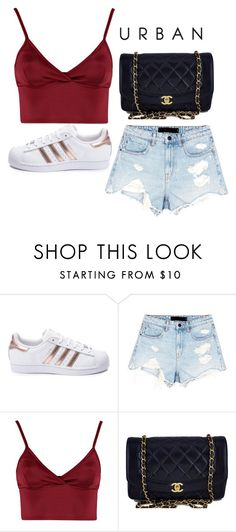 """Untitled #343"" by alexis1501 on Polyvore featuring adidas, Alexander Wang, Lipsy and Chanel"