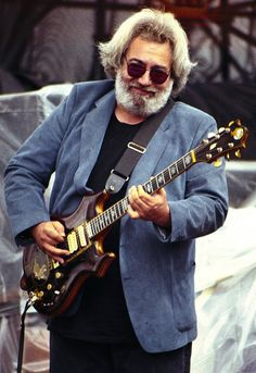 Jerry Garcia looking quite dapper on stage in Monterey, California - July 29th, 1988 - Imgur