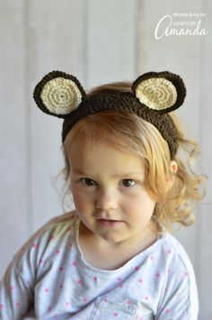 Free crochet pattern: Woodland Animal Ears Headbands by Whistle & Ivy for Crafts by Amanda