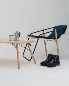 Eoin McNally created a collection of folding furniture that's used both indoors and out, to remind users of their adventures when they get home.