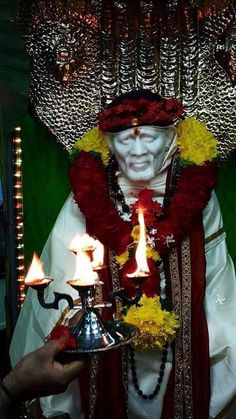 baba Sai Baba Hd Wallpaper, Sai Baba Photos, Baba Image, Jai Hanuman, Om Sai Ram, God Pictures, Indian Gods, Faith, Painting