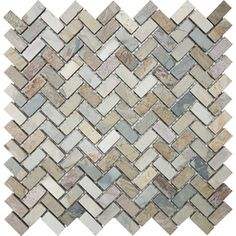 Slate herribone tile. This would be great in a bathroom