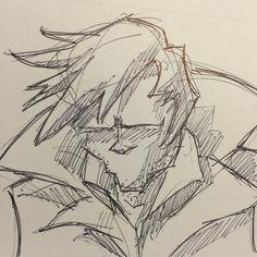 #sketch #guy #wind #collar  #cold #pen #ink #draw #drawing #ballpoint #coat #jacket #art #artist #illustration #scruff