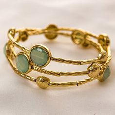 This gold Coastal Coil bracelet will look fantastic with a casual lunch outfit or a cocktail dress for date night. It adds a sophisticated touch to any outfit! #CrackerBarrel