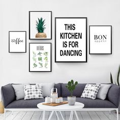 This Kitchen Is For Dancing Quote Wall Decor Canvas Prints Coffee Wall Art Pictures Kitchen Shop Wall Art Posters Frames On Wall, Framed Wall Art, Wall Canvas, Canvas Prints, Lino Prints, Block Prints, Canvas Art, Art Prints, Kitchen Canvas