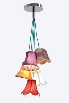 Kare Saloon Flowers Pendant Lamp - Could be an interesting DIY project for my blogger room/study - A Feature hanging in one corner