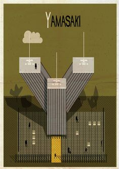 ABC ARCHITECTURE - Federico Babina is a Spain-based artist who creates a series of illustrations he calls Archibet. With this series, each alphabet is inspired by a famous architect including Gropius, Nouvel, Libera, and a whole lot more. Architecture Images, Architecture Drawings, Alvar Aalto, World Trade Center, Zaha Hadid, Exeter, Magazine Cover Layout, Alphabet Design, Famous Architects