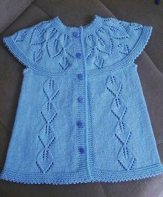 Bella pattern by Lene Holme Samsøe Baby Sweater Knitting Pattern, Baby Hats Knitting, Vest Pattern, Baby Knitting Patterns, Knitting For Charity, Popular Crochet, Baby Girl Dress Patterns, Baby Girl Crochet, Crochet Jacket