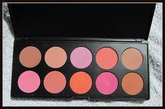 BH Cosmetics 10 Color Professional Blush Palette Review