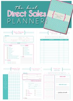 Direct Sales Planner, Mary Kay, Scentsy, Miche, Origami Owl, Pampered Chef, Home Party Printable Planner $15.00 at Breezy Organization! https://www.etsy.com/listing/175315042/direct-sales-party-planner-deluxe?ref=listing-1