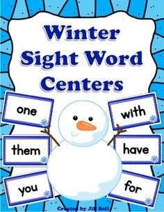 This set of 6 sight word centers makes practicing sight word recognition fun and frosty!