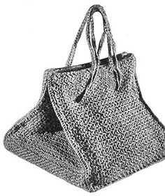 Trellis Bag crochet originally published in Easy to Make Hats, Spool Cotton Co #192. #bagpatterns