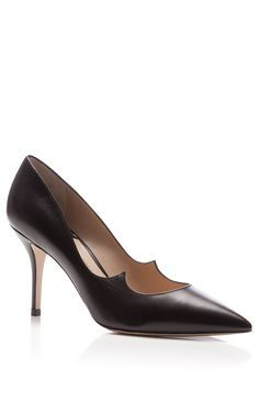 0e1637df9412e Kimura Leather Pointed-Toe Pumps by Paul Andrew - Shoe Story