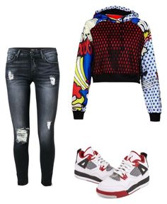 """""""Untitled #90"""" by destinygotem ❤ liked on Polyvore featuring adidas Originals, 7 For All Mankind and NIKE"""