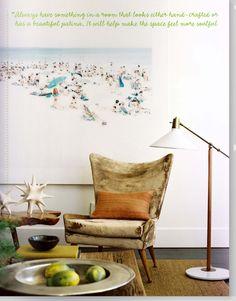 Living Room love the art