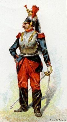 French cuirassier, 1870