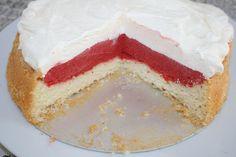Eistorte mit Erdbeersorbet und Vanilleeis http://www.family-cookies.de/2014/07/erdbeereis-erdbeersorbet-mama-ist-das-lecker-und-lactosefrei-vegan/