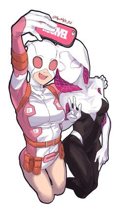 Gwenpool and Spidergwen