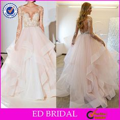 Check out this product on Alibaba.com App:Sexy Backless Illusion Long Sleeve Ball Gown Wedding Dresses 2017 https://m.alibaba.com/VzAbmm