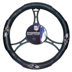 Baltimore Ravens NFL Steering Wheel Cover (14.5 to 15.5)