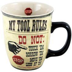 """My Tool Rules"" Boxed Mug Carson http://www.amazon.com/dp/B00HZ17T2E/ref=cm_sw_r_pi_dp_lBIwwb09A0DYW"