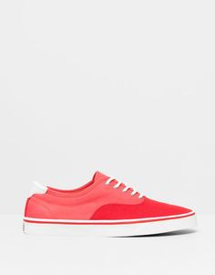 :COLOURED FABRIC PLIMSOLLS