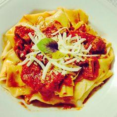 Maltagliato ao Molho de Tomate e Paleta - Massa Caseira da talentosa Carol do My Flavors!