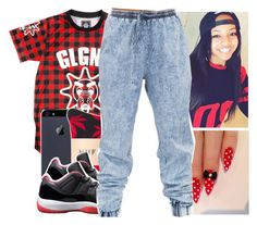 """""""GLGNG"""" by destinylove66 ❤ liked on Polyvore featuring HUF"""