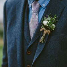 Get your wedding look just right with a timeless three-piece suit from Magee Photo by Francis Meaney Three Piece Suit, 3 Piece Suits, Tweed Suits, Mens Suits, Donegal, Weekend Wear, Wedding Looks, Groomsmen, Floral Tie
