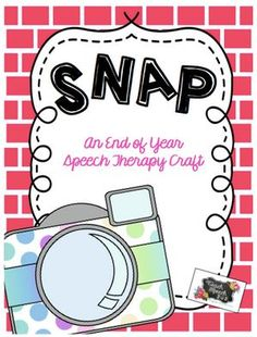 Snap! End of Year Craft-pinned by @PediaStaff – Please Visit ht.ly/63sNtfor all our pediatric therapy pins