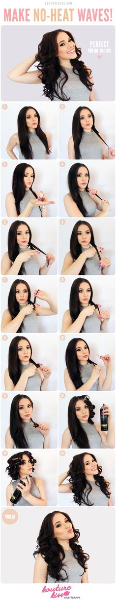 DIY No Heat Waves diy hair ideas diy ideas easy diy diy beauty diy hair diy fashion beauty diy diy style hairstyles diy hair style hair tutorials diy waves
