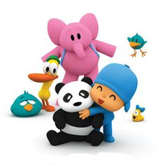 Pocoyo!  Actually a funny little show for kids to watch.  My daughter loves it!