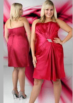 London Times Plus Size Dress Rosette Cocktail Dress