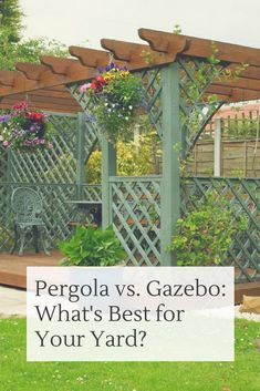 What's the difference between a pergola and a gazebo?  We tell you with a detailed comparison listing out pros and cons of each.  #pergola #gazebo #backyardideas #homestratosphere