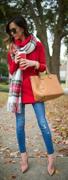 Plaid Scarf for the Holidays!