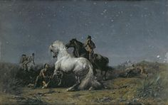 The Horse Thieves, ArtistFerdinand Victor Eugene Delacroix, Painting - Oil On Canvas