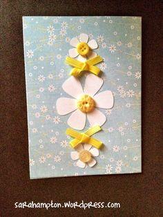Daisies and bows card
