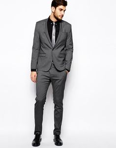 ASOS Skinny Fit Suit Navy YES PLEASE | wedding | Pinterest | ASOS ...