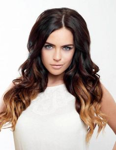 dark brown hair with ombre highlights - Google Search