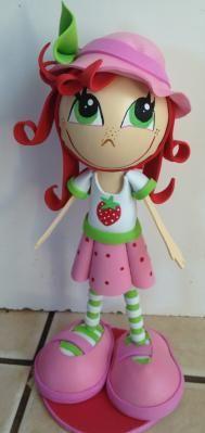 Strawberry Shertcake Handmade Fofucha Doll