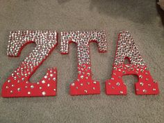 ZTA sorority ombre bedazzled wooden letters