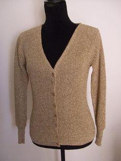Giacche corte - cardigan donna cotone maglia oro - un prodotto unico di dorazimorena su DaWanda