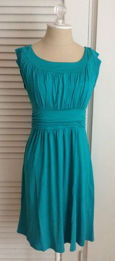 Pretty colored dress.  I like the lines on this one.  Perfect for the wedding I have to go to at the end of July.