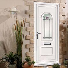 Exterior Pvc Orrin Jura Door. #whitepvcdoor #wxternalpvcdoor #galzedpvcfrontdoor