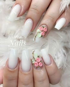 Leidy Nails, You can collect images you discovered organize them, add your own ideas to your collections and share with other people. Bling Nails, 3d Nails, Nail Manicure, Cute Nails, Pretty Nails, Pastel Nails, 3d Nail Designs, Acrylic Nail Designs, Bridal Nails